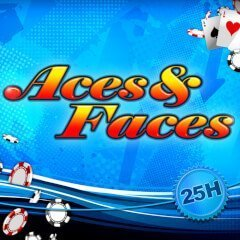 aces and faces 25 logo
