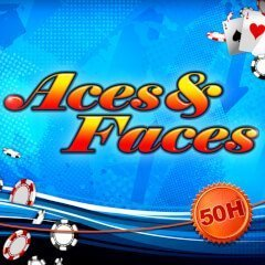 aces and faces 50 logo