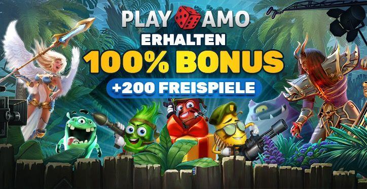 PlayAmo Echtgeld Casino Bonus banner