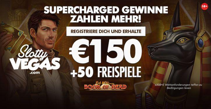SlottyVegas Casino Online Casino Echtgeld Bonus