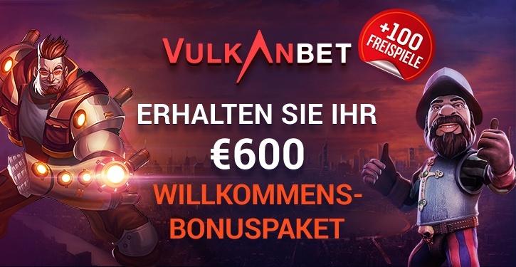 VulkanBet 100 Free Spins Willkommens-Bonuspaket