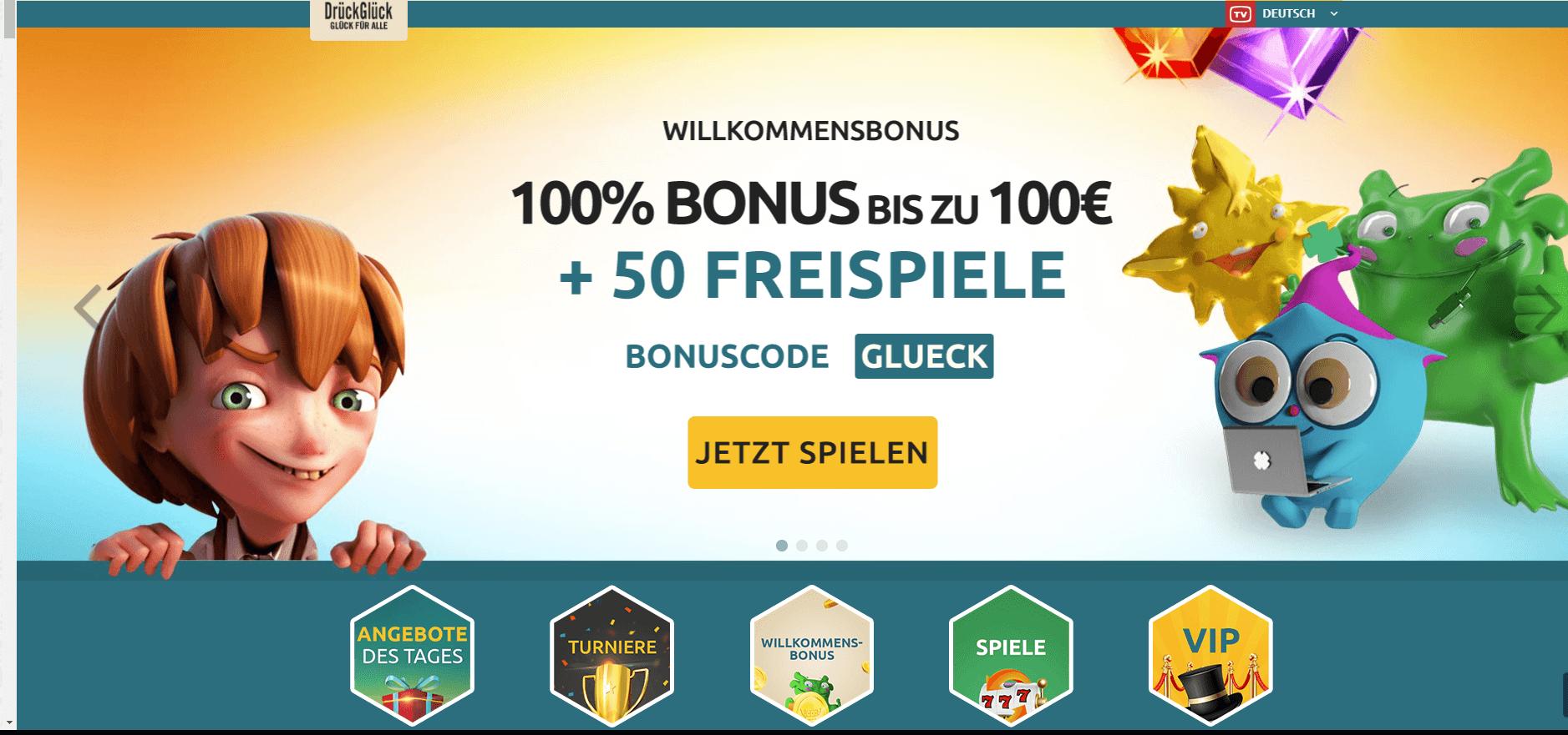 DrückGlück 100% Bonus