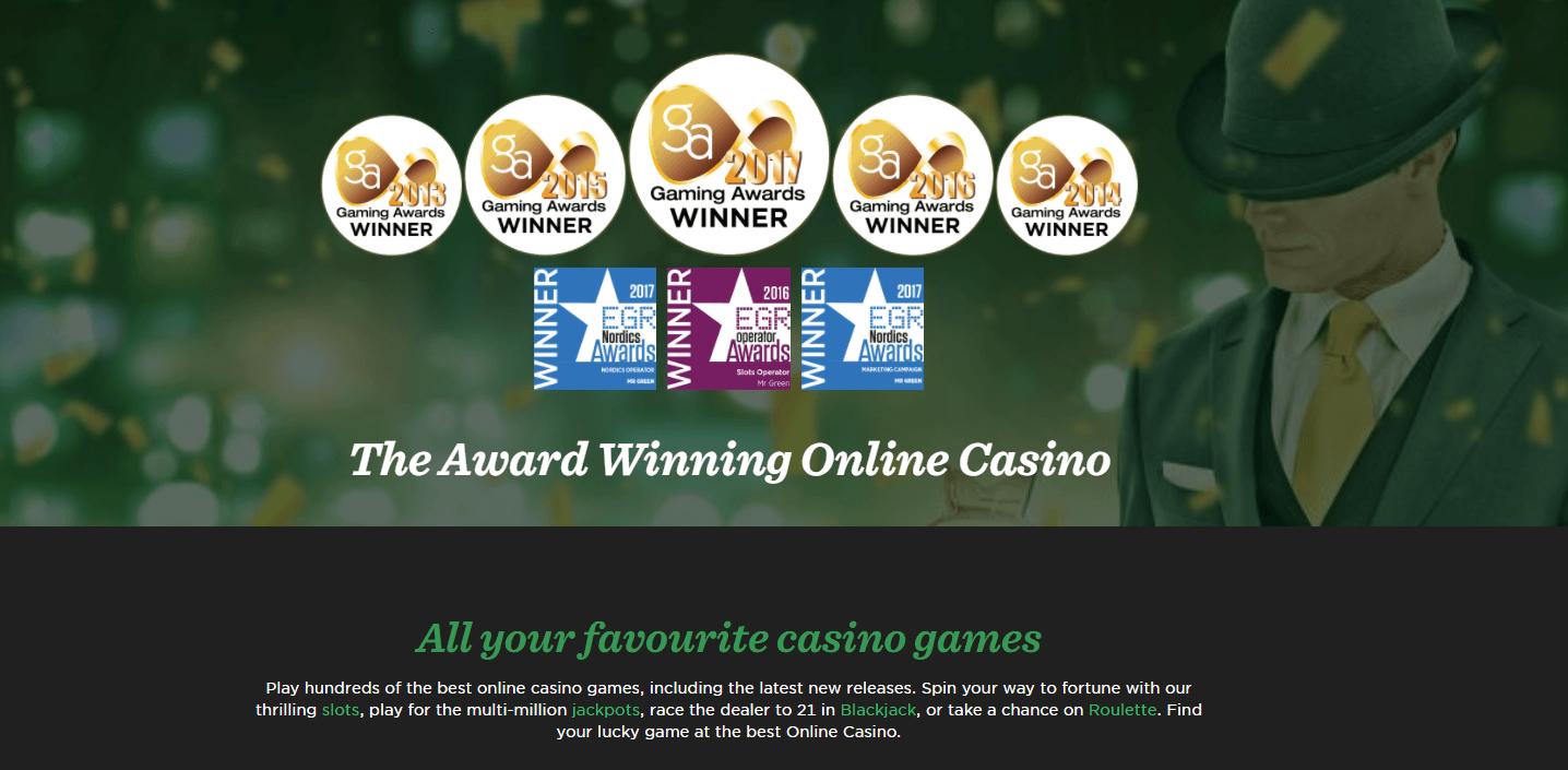 Mr Green Winning Online Casino