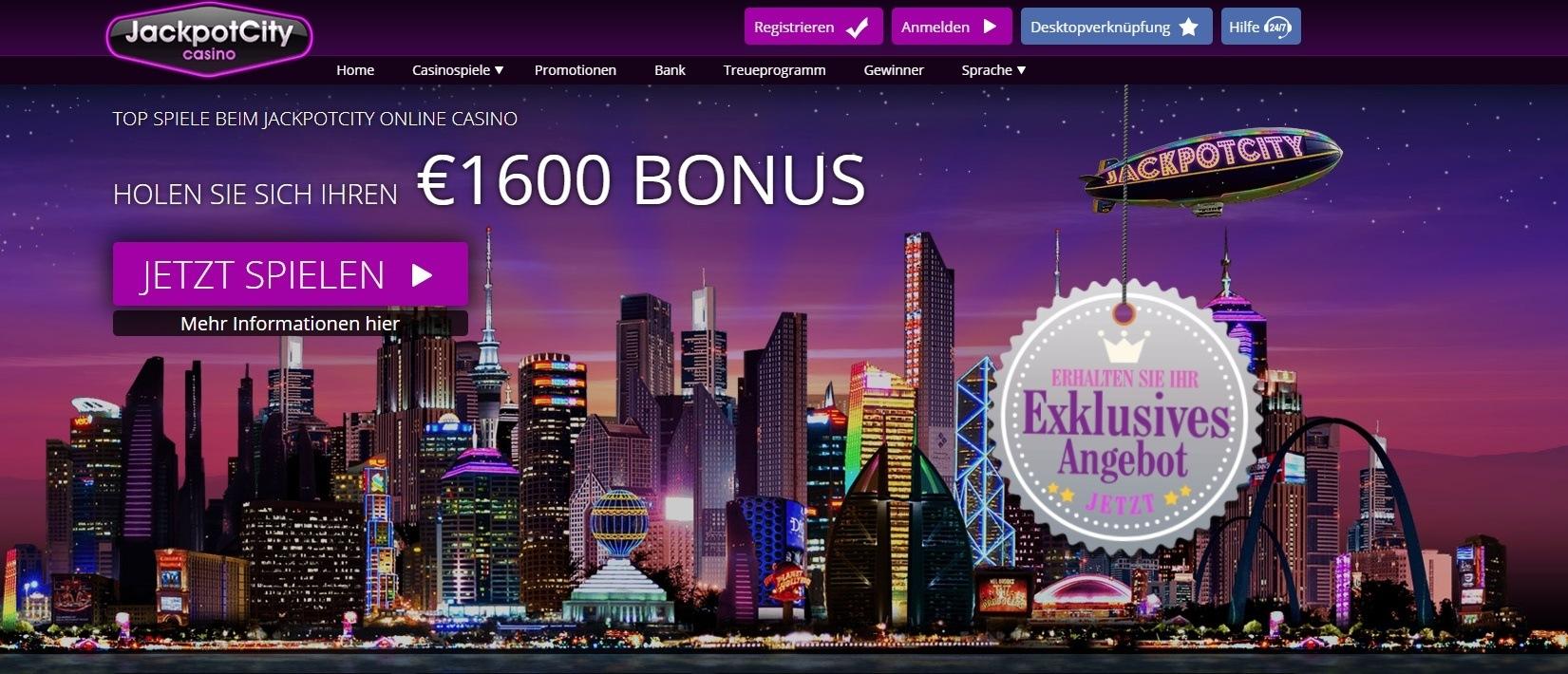 jackpotcity 1600$ bonus