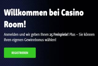 Casino Room – 25 Freispiele ohne Einzahlung!