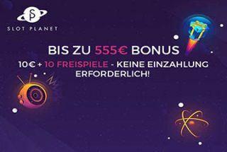 Slot Planet – €10 und 10 Freispiele ohne Einzahlung!