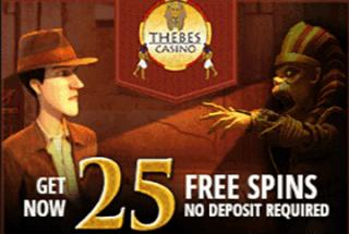 Thebes Casino Sign-up Bonus – 25 Freispiele gratis!
