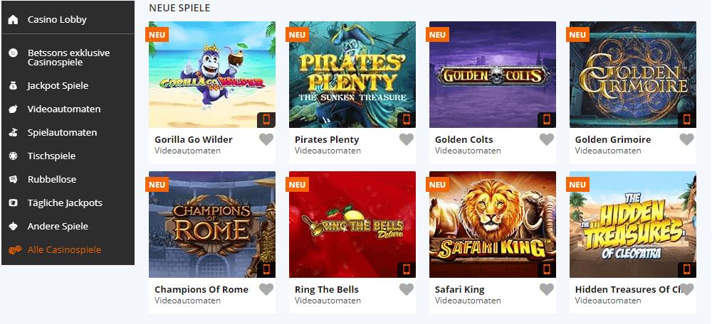 Betsson All Casino Game