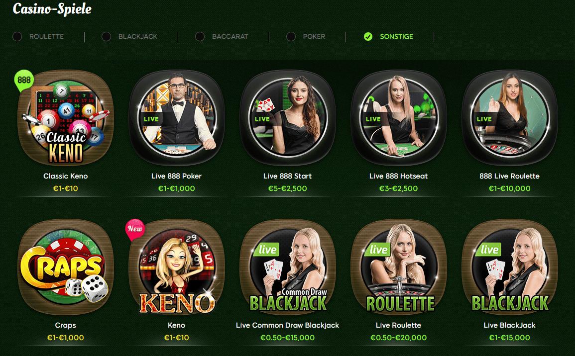 Casino Spiele 888 Casino
