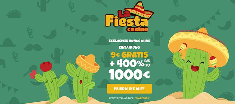 La Fiesta Casino Bonus ohne Einzahlung