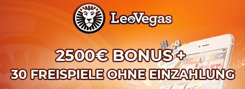 LeoVegas Casino 30 Freispiele ohne Einzahlung