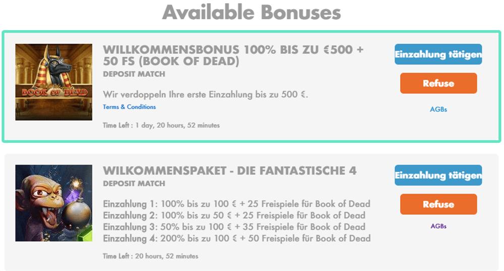 Online Casino Bonus Slotty Vegas