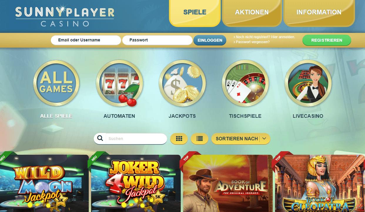 Online Casino Spiele sunnyplayer
