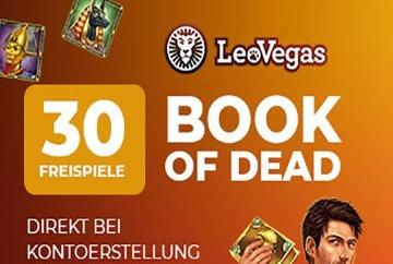 leovegas freispiele book of dead