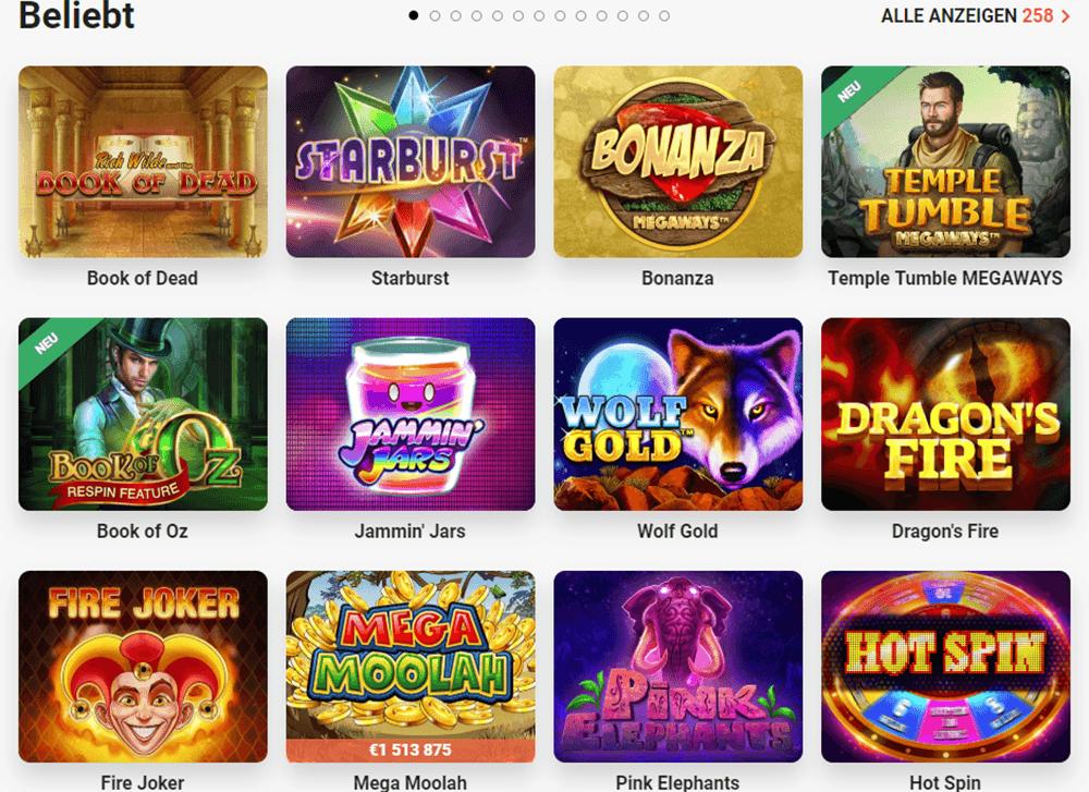 LeoVegas Online Casino Spiele