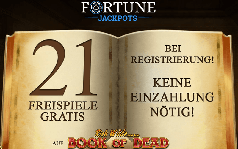 Fortune Jackpots Casino Book of Dead 21 Spins