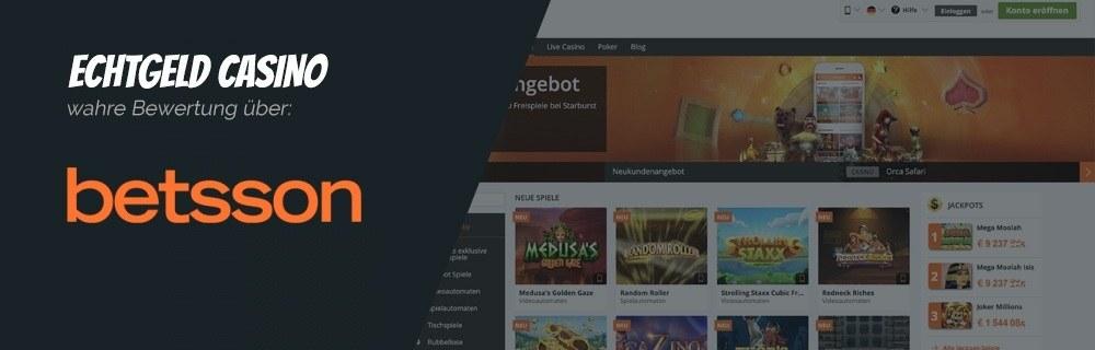 Betsson Online Casino Echtgeld Erfahrungen